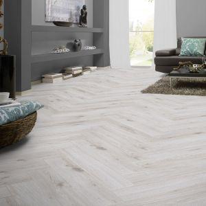 8mm Herringbone Laminate Flooring, Grey Wash Laminate Flooring