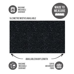 Washable Door Mat Cut to Size Charcoal