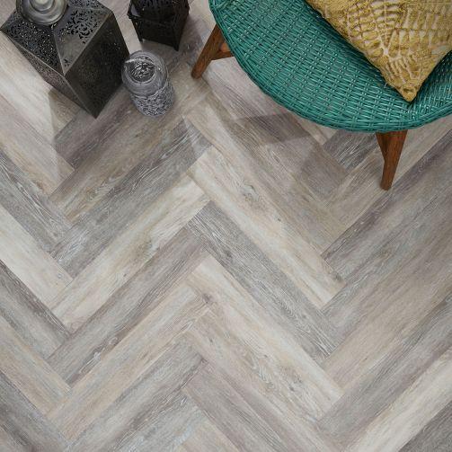 Signature Select Parquet Herringbone Luxury Vinyl Flooring Boathouse Oak SSP-023