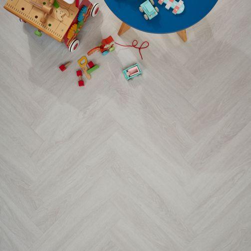 Signature Select Parquet Herringbone Luxury Vinyl Flooring Snowy Oak SSP-018