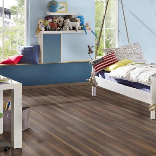 Prestige Timbers® Dark Walnut 12mm Laminate Flooring