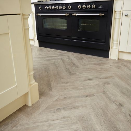 Signature Select Parquet Herringbone Luxury Vinyl Flooring Distressed Oak SSP-013