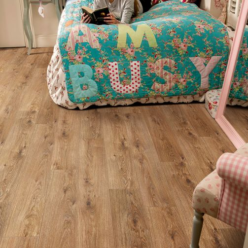 Elka 12mm Laminate Flooring Cinnamon Oak