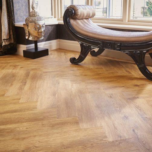 Signature Select Parquet Herringbone Luxury Vinyl Flooring Farmhouse Oak SSP-012