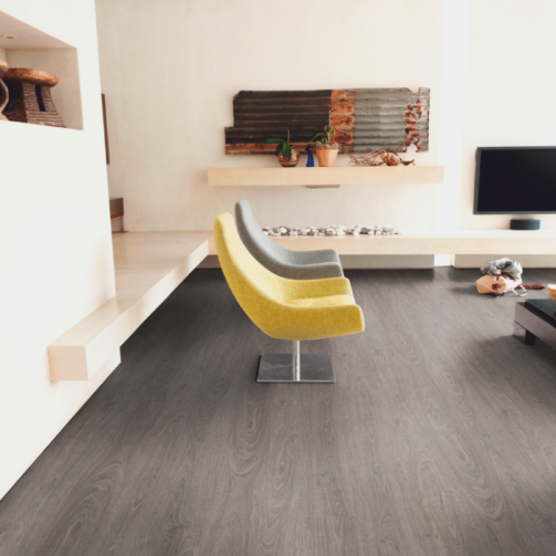 Naturelle Click Vinyl Flooring Washed Grey Oak