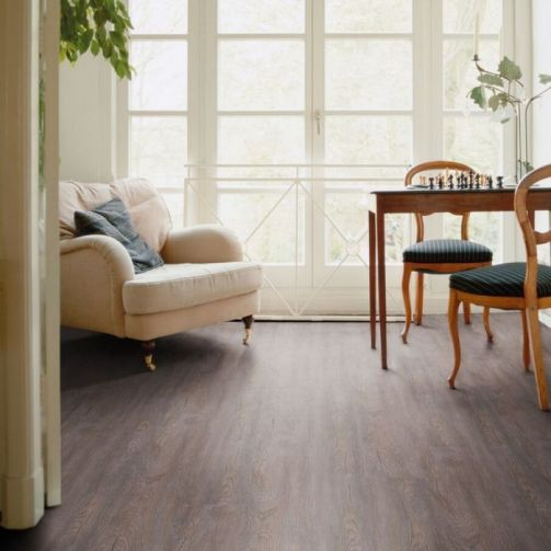 Naturelle Click Vinyl Flooring Vintage Grey Wood