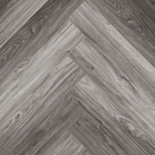 Naturelle Black Pearl Wood Herringbone SPC Rigid Click Vinyl Flooring