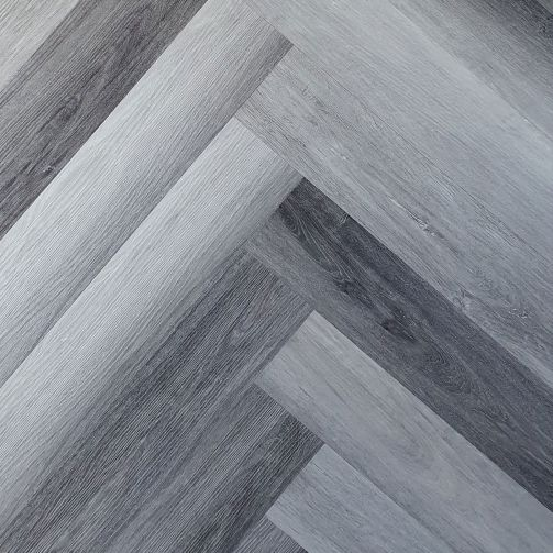 Naturelle Charred Ash Herringbone SPC Rigid Click Vinyl Flooring