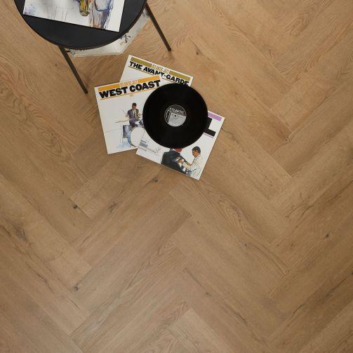 Naturelle Crafted Oak Herringbone SPC Rigid Core Click Vinyl Flooring