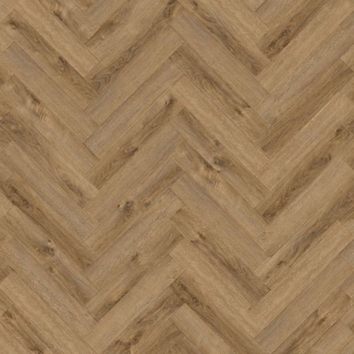 Naturelle Rustique Oak Herringbone SPC Rigid Click Vinyl Flooring