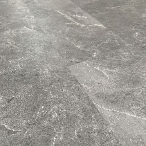 Naturelle Mid Grey Slate Tile SPC Rigid Core Click Vinyl Flooring