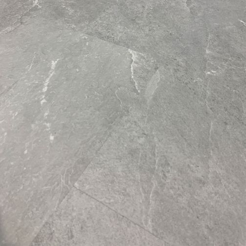 Naturelle Pale Grey Slate Tile SPC Rigid Core Click Vinyl Flooring