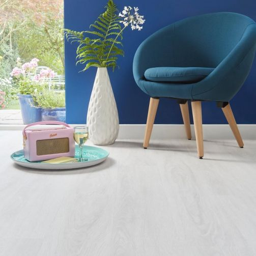 Naturelle Snowy Oak Gluedown Luxury Vinyl Flooring
