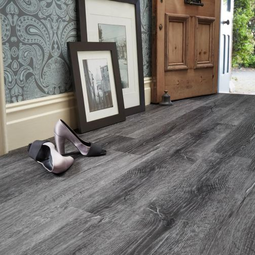 Naturelle Scorched Timber Gluedown Luxury Vinyl Flooring