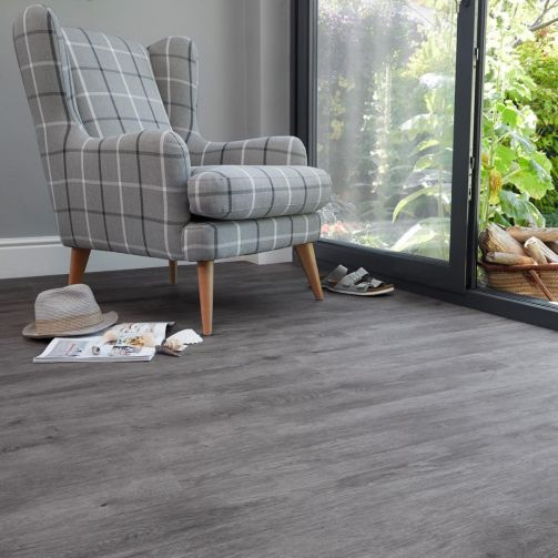 Naturelle Grey Weathered Wood Gluedown Luxury Vinyl Flooring