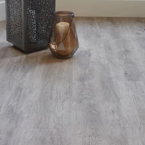 Naturelle Brushed Grey Ash Gluedown Luxury Vinyl Flooring