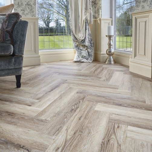 Signature Select Parquet Herringbone Luxury Vinyl Flooring Meadow Oak SSP-011