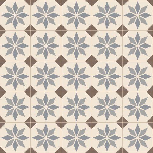 Victorian Tile Style Sheet Vinyl Flooring Brunel