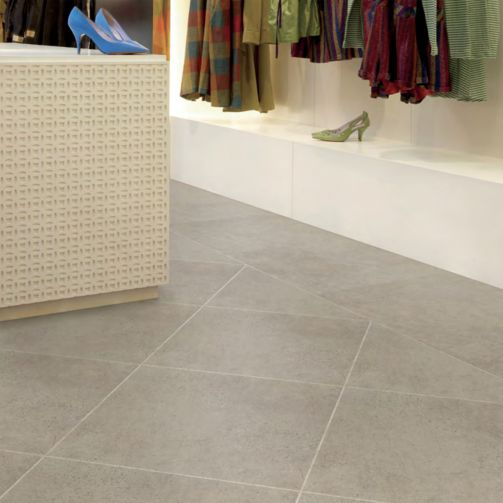 Polyflor Luxury Vinyl Flooring LVT Gluedown Tile Natural Limestone