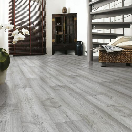 Prestige Timbers® 8mm Laminate Flooring Grey Pebble