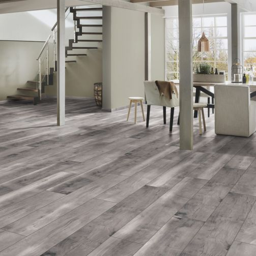 Prestige Timbers® 10mm Laminate Flooring Grey Planked
