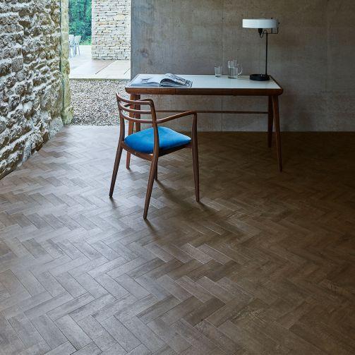 Signature Select Parquet Herringbone Luxury Vinyl Flooring Coffee Oak SSP-025