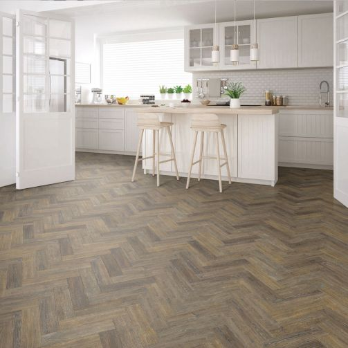 Signature Select Parquet Herringbone Luxury Vinyl Flooring Noble Oak SSP-016
