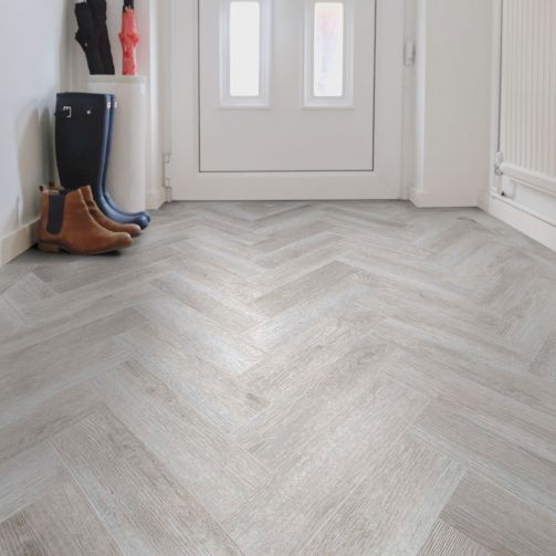 Signature Select Parquet Herringbone Luxury Vinyl Flooring Nordic Oak SSP-015