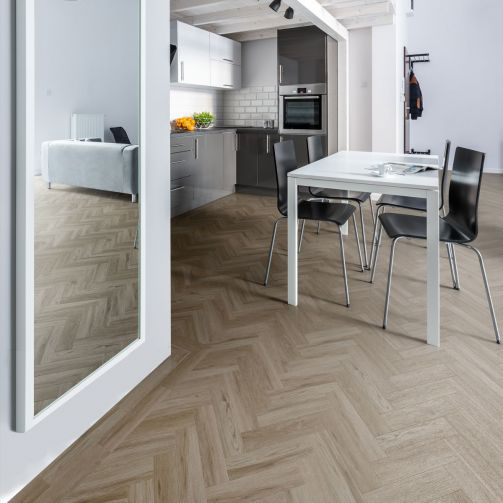 Signature Select Parquet Herringbone Luxury Vinyl Flooring Soft Oak SSP-017
