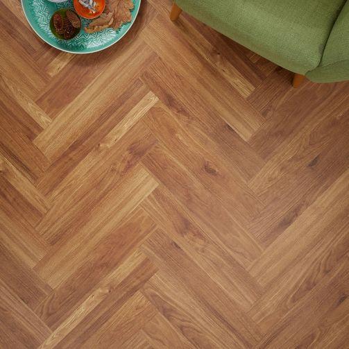 Signature Select Parquet Herringbone Luxury Vinyl Flooring Summer Oak SSP-024