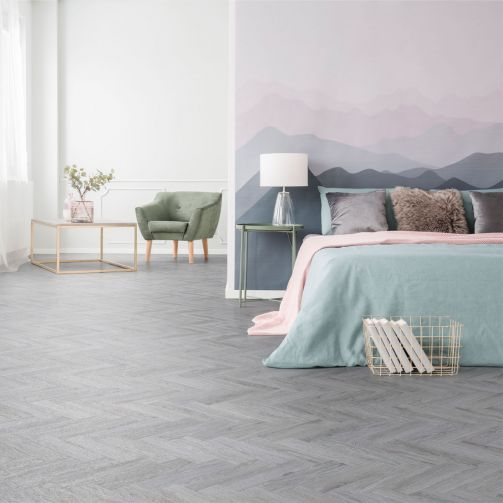 Signature Select Parquet Herringbone Luxury Vinyl Flooring Valley Oak SSP-014