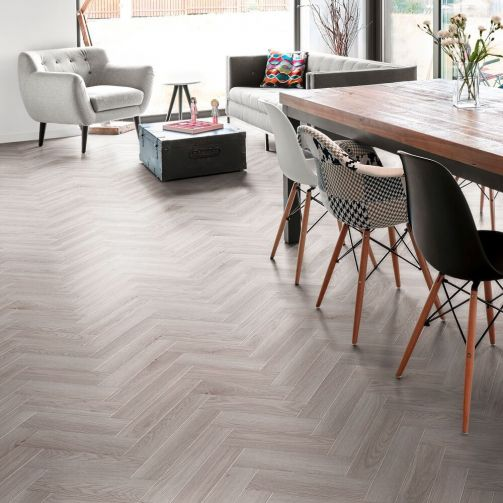 Signature Select Parquet Luxury Vinyl Flooring Lime Grey Wood SSP-007