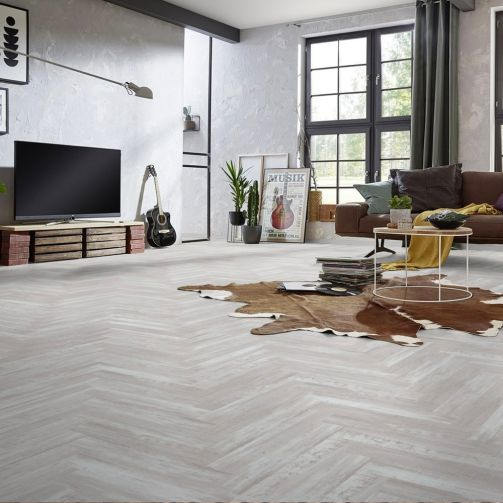 Signature Select Parquet Luxury Vinyl Flooring Arctic White Wash SSP-008