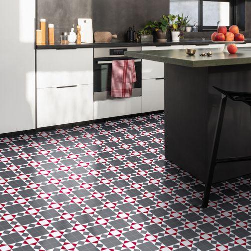Victorian Mosaic Tile Sheet Vinyl Flooring Dorchester
