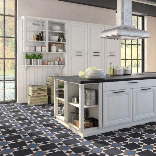 Victorian Mosaic Tile Sheet Vinyl Flooring Soho