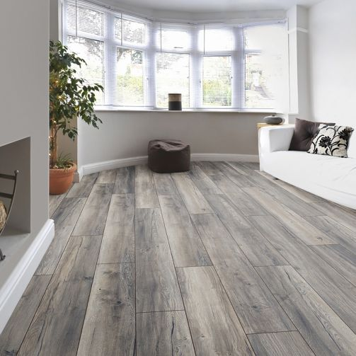 Villa Harbour Oak Grey 12mm Laminate Flooring