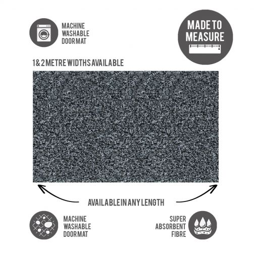 Washable Door Mat Cut to Size Raincloud