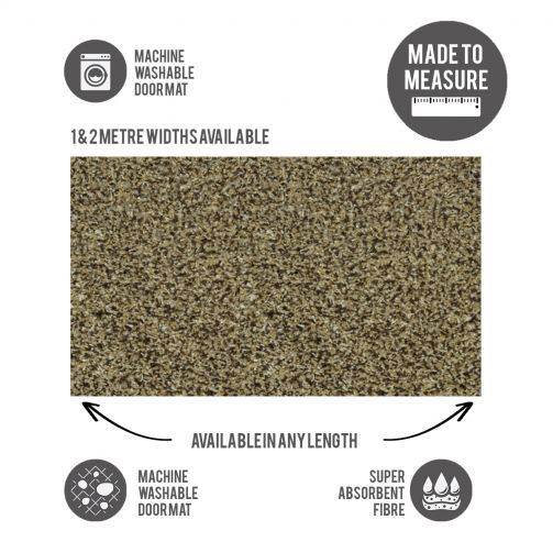 Washable Door Mat Cut to Size Oatmeal