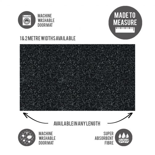 Washable Door Mat Cut to Size Slate