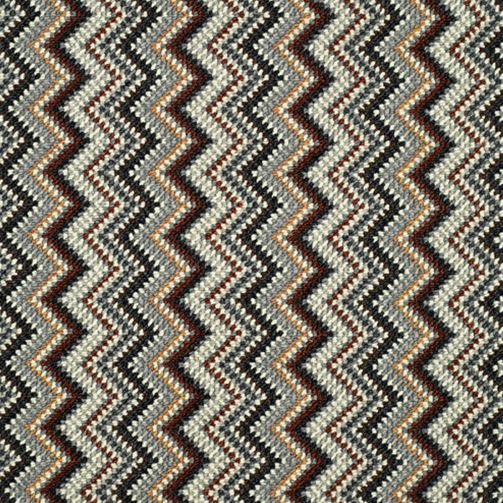 Zigzag Stripe Carpet Brown Slim Retro