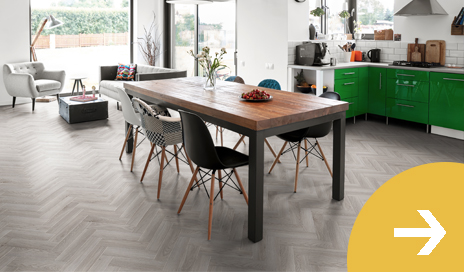 Herringbone Gluedown Luxury Vinyl Flooring